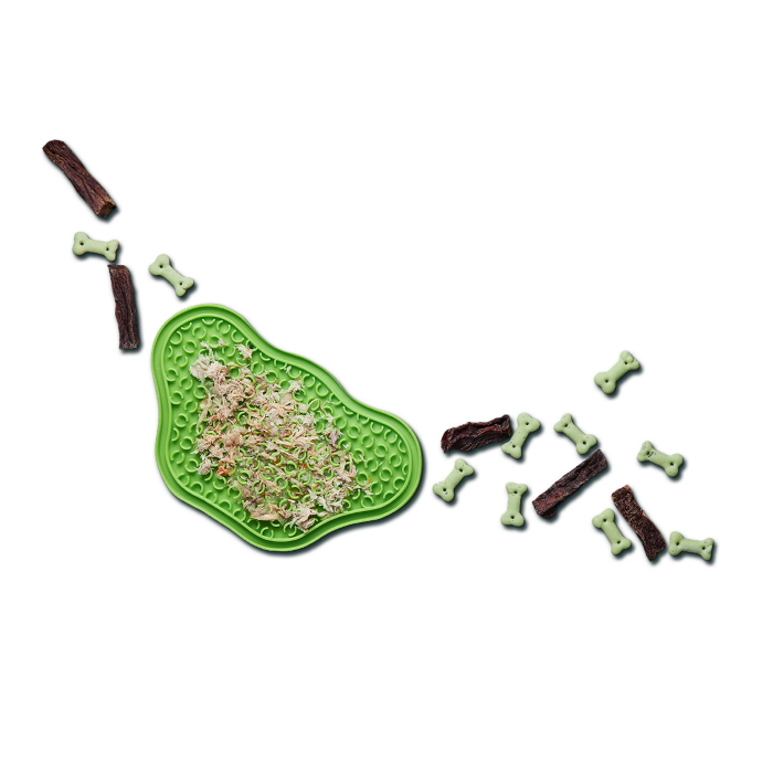 Green Paw Slow Feeder Lick Pad for cats & dogs