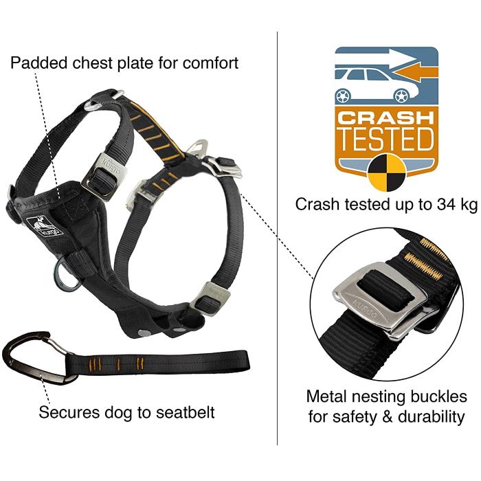 Kurgo Enhanced Strength TFS Dog Car Harness with Restraint