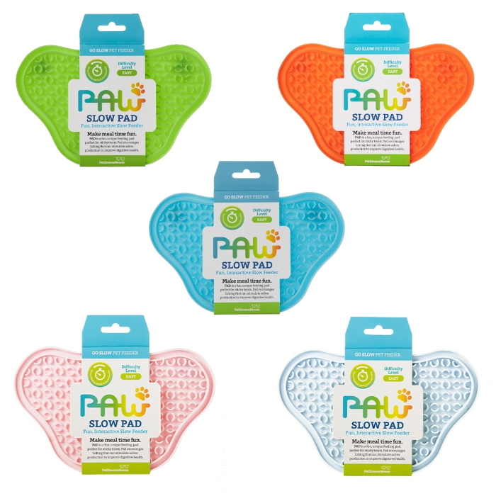Paw Slow Feeder Lick Pad for cats & dogs Colour Range