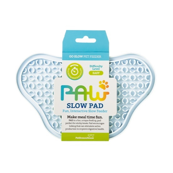 Paw Slow Feeder Lick Pad for dogs Baby Blue