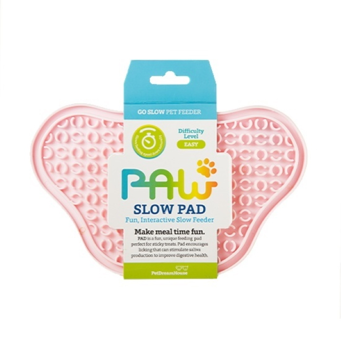 Paw Slow Feeder Lick Pad for dogs Baby Pink