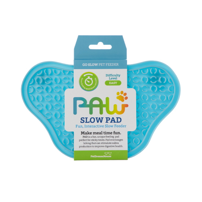 Paw Slow Feeder Lick Pad for dogs Blue