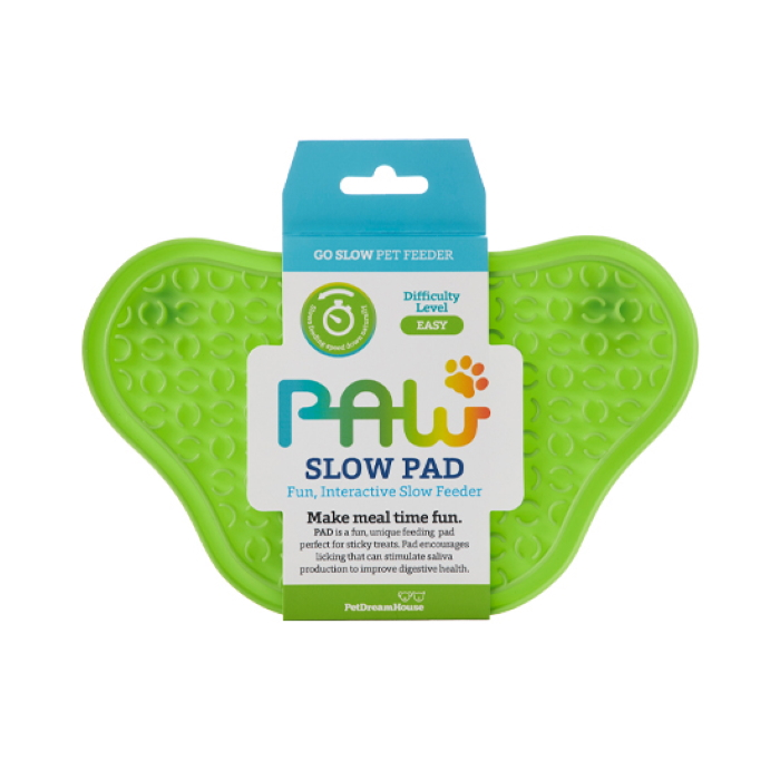 Paw Slow Feeder Lick Pad for dogs Green