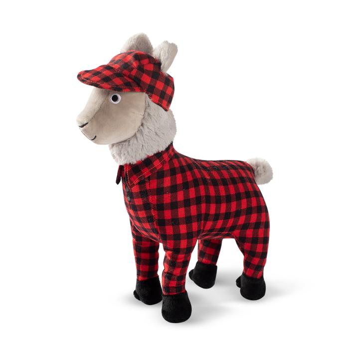 Fringe Studio Christmas Feelin' Festive Pyjama Llama Plush Dog Toy