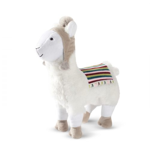 Fringe Studio Christmas Llama with a Beanie Plush Squeaker Dog Toy