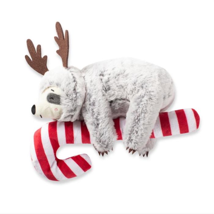 Fringe Studio Christmas Sloth on Candycane Dog Toy