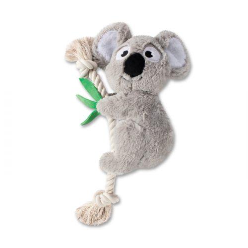 Fringe Studio Koala on a Rope Plush Squeaker Dog Toy