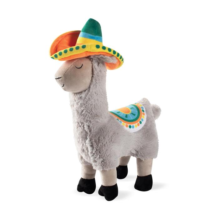 Fringe Studio Llama Party Time Plush Squeaker Dog Toy