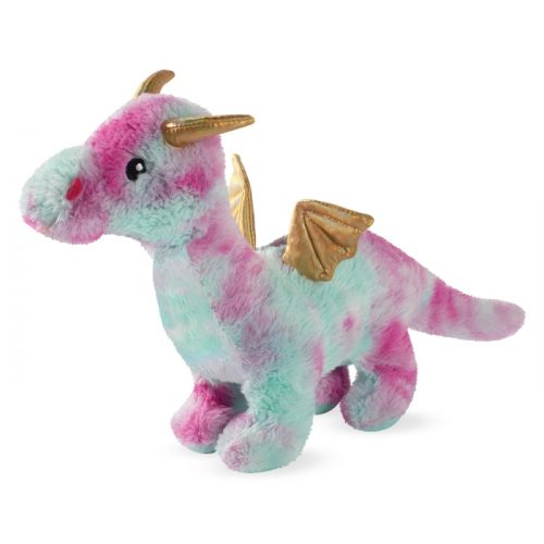 Fringe Studio Magenta Dragon Plush Squeaker Dog Toy
