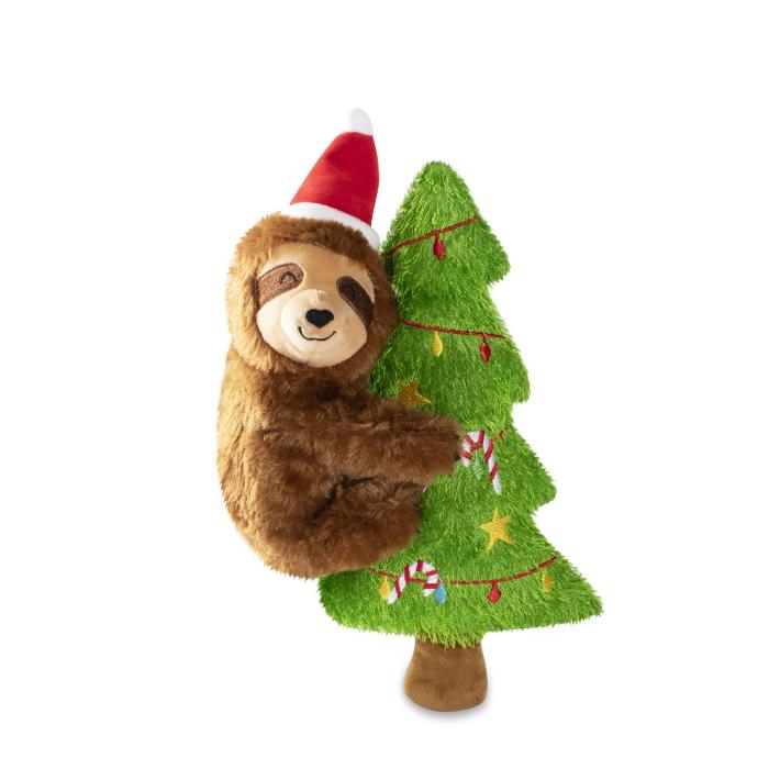 Fringe Studio Merry Sloth-Mas Dog Toy