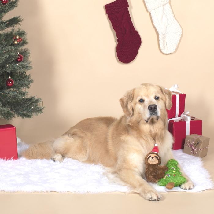 Fringe Studio Merry Sloth-Mas Tree Dog Toy