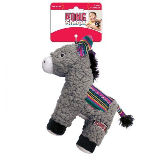 KONG Sherps Donkey Plush Dog Toy Tag