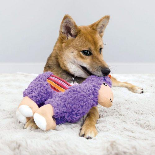 KONG Sherps Plush Dog Toy Llama LS