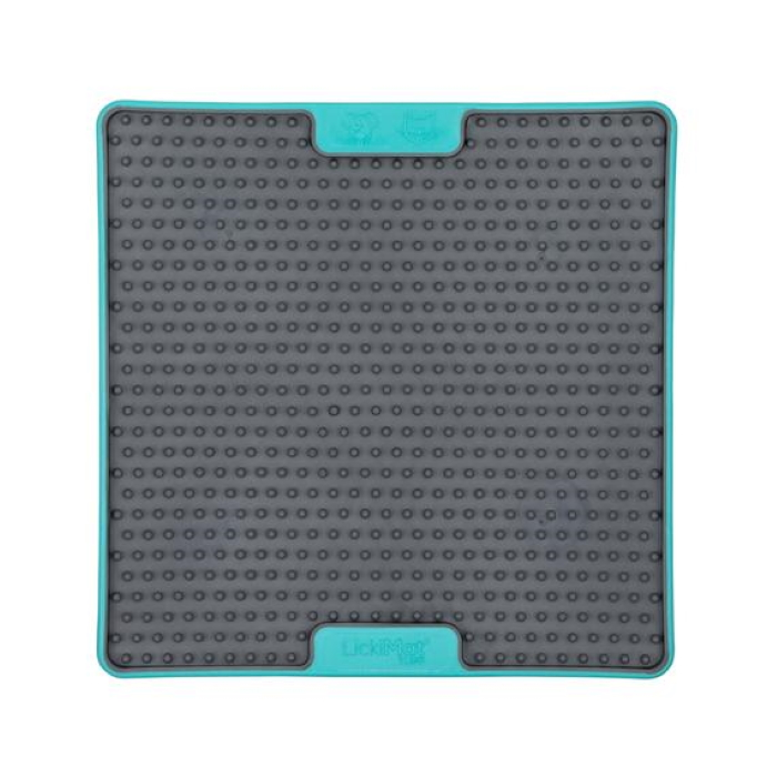 Lickimat Soother Deluxe Tuff Blue Front