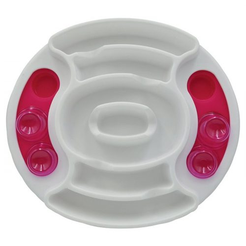 Scream Slow Feed Interactive Dog Puzzle Bowl_Pink Top