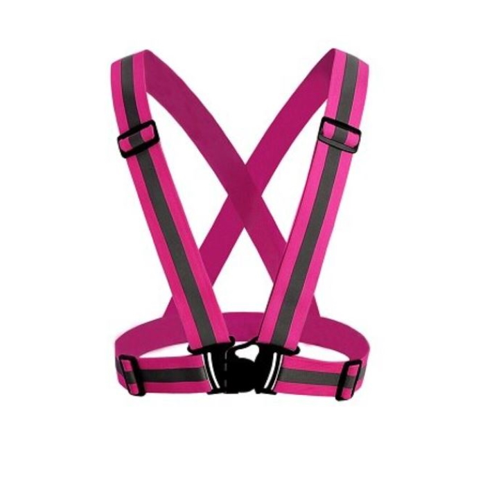 High Visibility Reflective Safety Vest Pink