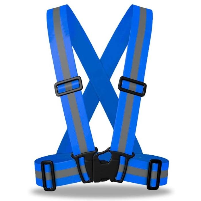 High Visibility Reflective Safety Vest blue