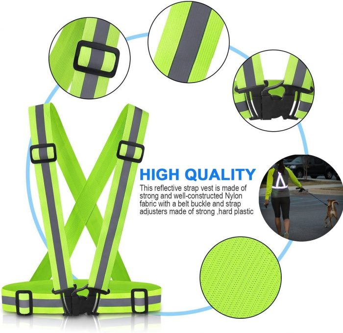 High Visibility Reflective Safety Vest features