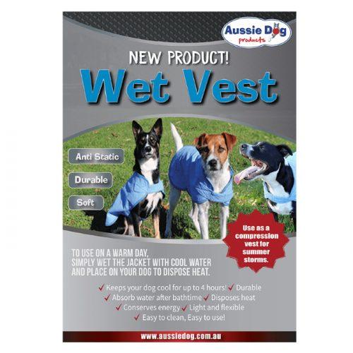 Aussie Dog Wet Vest Dog Cooling Coat
