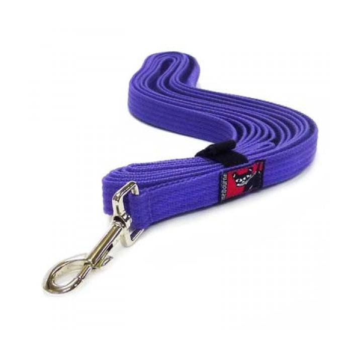 Black Dog Long Lead 5m Purple