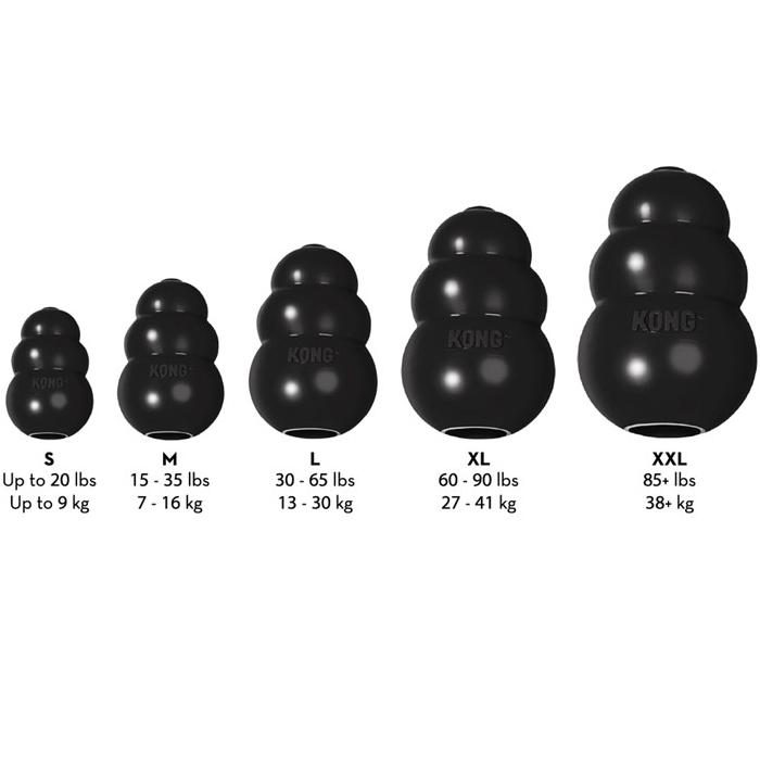 Kong Classic Extreme Black _Sizes