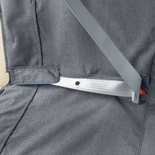 Kurgo Heather Bench Seat Cover for Dogs_Seat Belt points