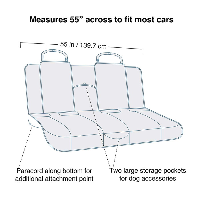 Kurgo Heather Bench Seat Cover for Dogs_dimensions