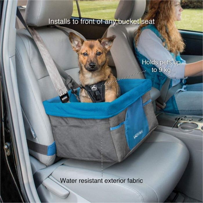 Kurgo Heather Booster seat for dogs_Charcoal_Features