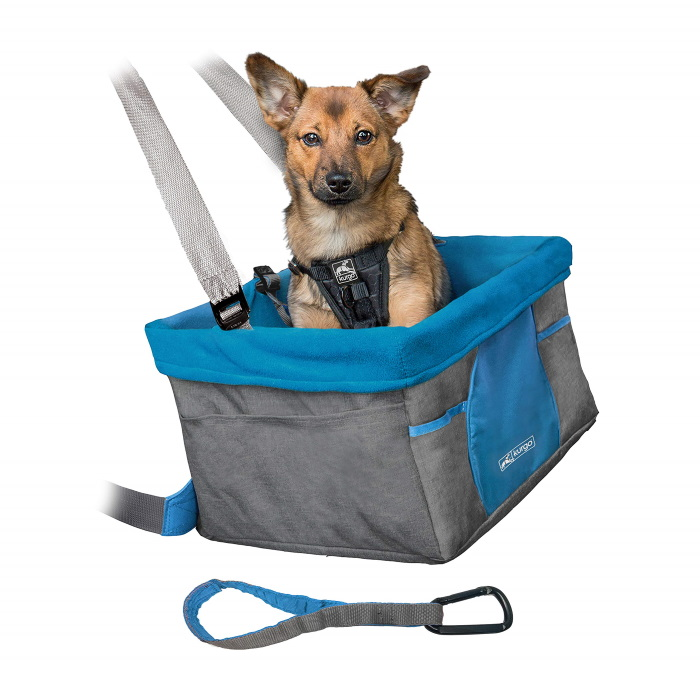 Kurgo Heather Booster seat for dogs_safety tether