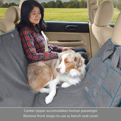 Kurgo Heather Hammock Car Seat Cover_central zipper