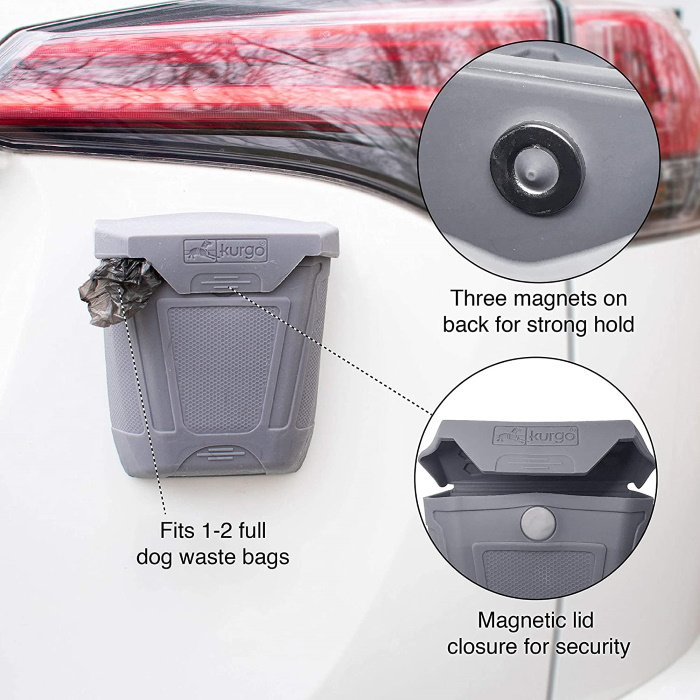 Kurgo Tailgate Dumpster for Poo Bags_Features