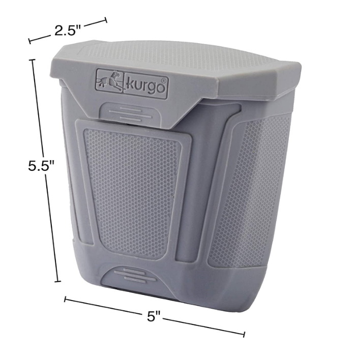 Kurgo Tailgate Dumpster for Poo Bags_dimensions