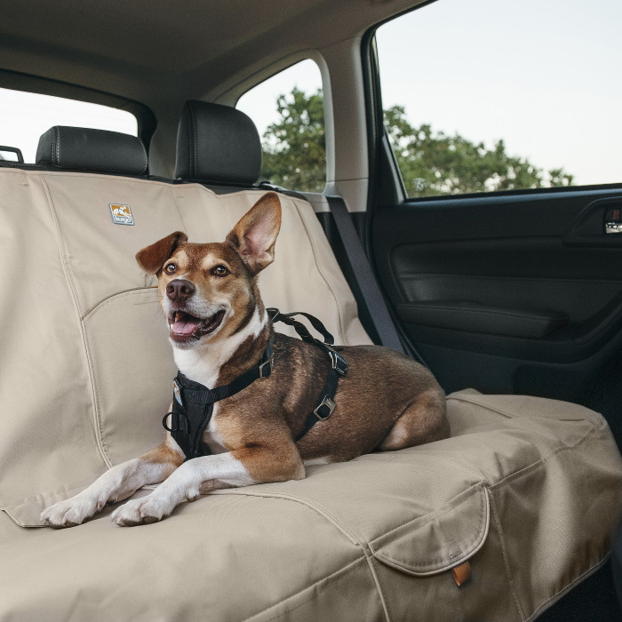 Kurgo Wander Bench Dog Car Seat Cover_Hampton Sand