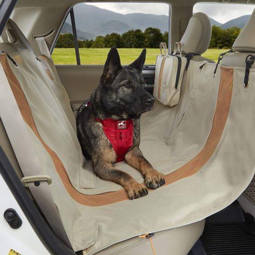 Kurgo Wander Hammock Dog Car seat protector_Hampton Sand