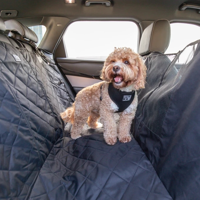 Big and Little Dogs_Hammock Car Seat Cover for Dogs Black
