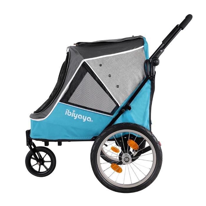 Ibiyaya 2 in 1 bike trailer stroller Blue_side
