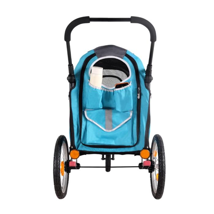 Ibiyaya 2 in 1 bike trailer stroller Blue_storage pockets