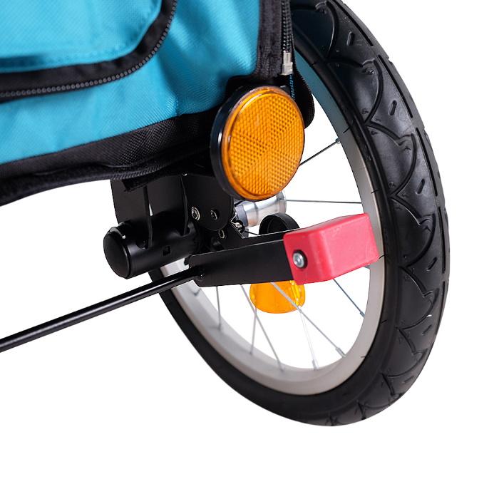 Ibiyaya 2 in 1 bike trailer stroller blue_rear brakes