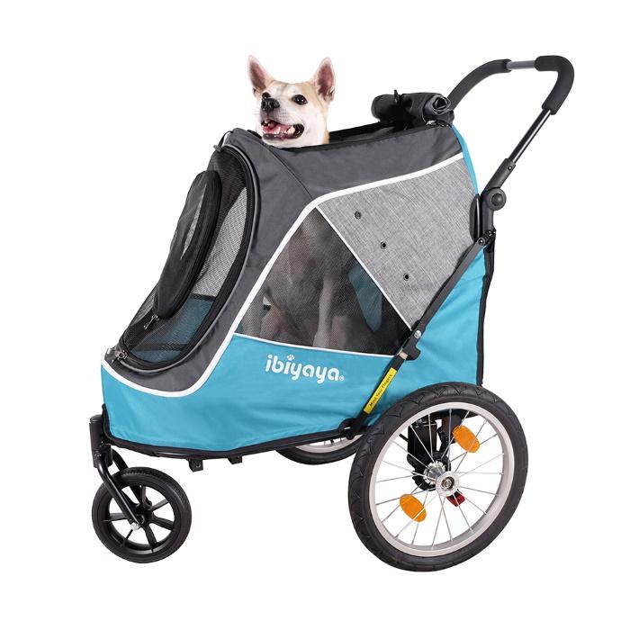 Ibiyaya 2 in 1 bike trailer stroller_Blue
