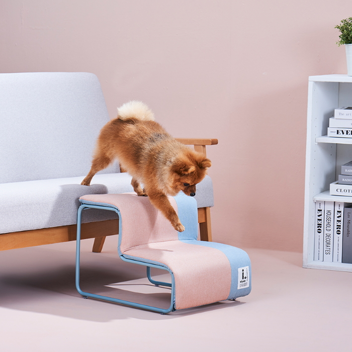 Ibiyaya Everest Collapsible Pet Stairs_Cotton Candy LS