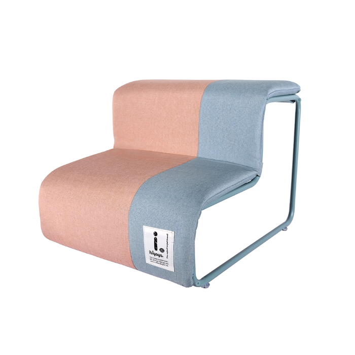 Ibiyaya Everest Collapsible Pet Stairs_Cotton Candy