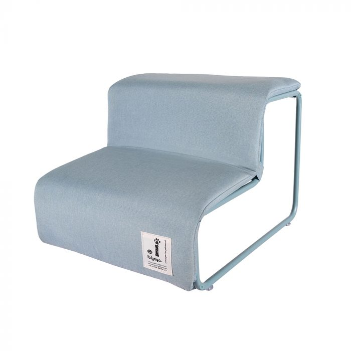 Ibiyaya Everest Collapsible Pet Stairs_Dusty Blue