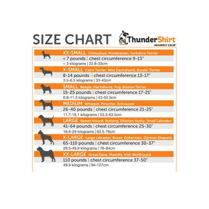 ThunderShirt_for_Dogs_Heather_Gray_Size Chart