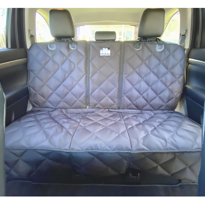 Quilted Pawmanity Bench Car Seat Cover for Dogs