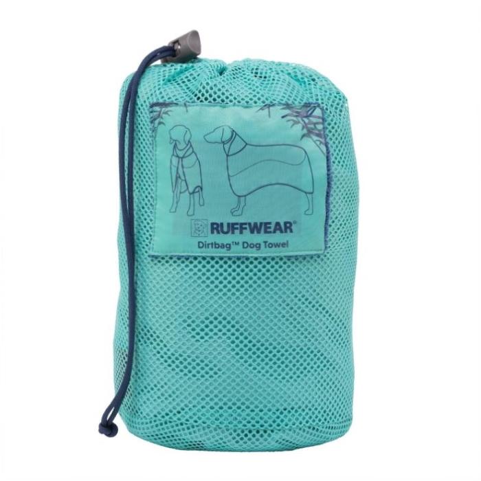 Ruffwear Dirtbag dog drying towel bag_Aurora Teal