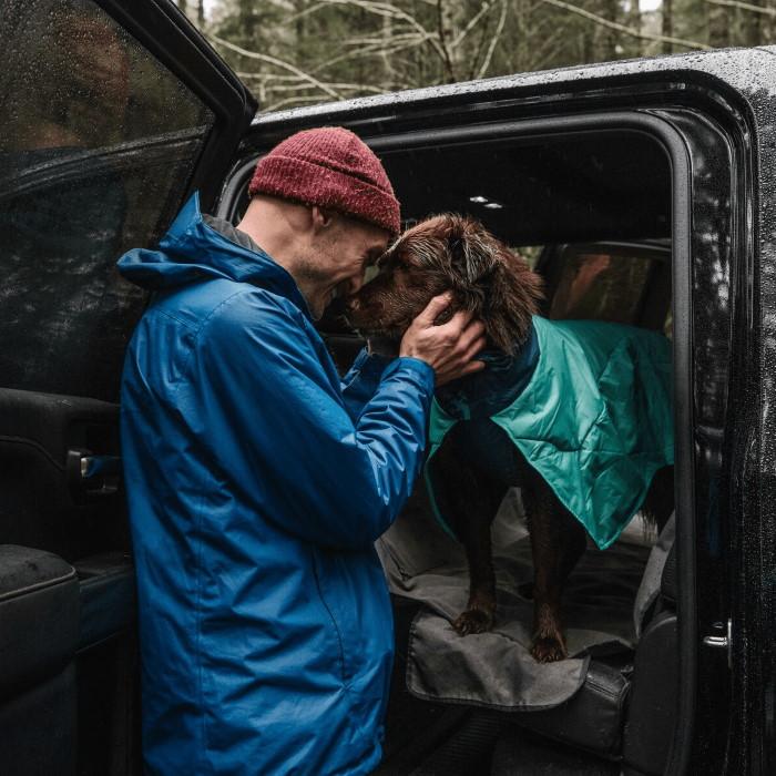Ruffwear Dirtbag dog drying towel jacket_Aurora Teal LS3