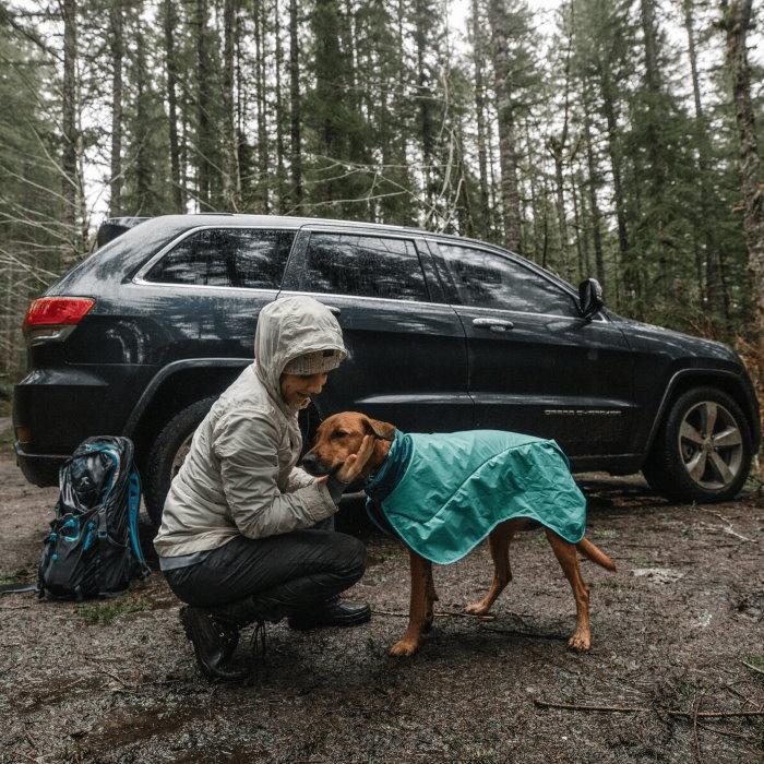 Ruffwear Dirtbag dog drying towel jacket_Aurora Teal LS5
