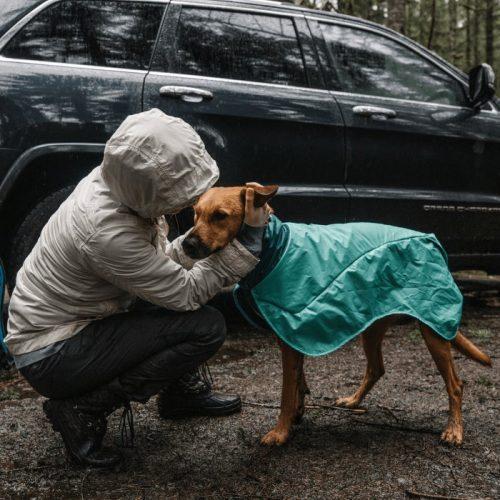 Ruffwear Dirtbag dog drying towel jacket_Aurora Teal LS6