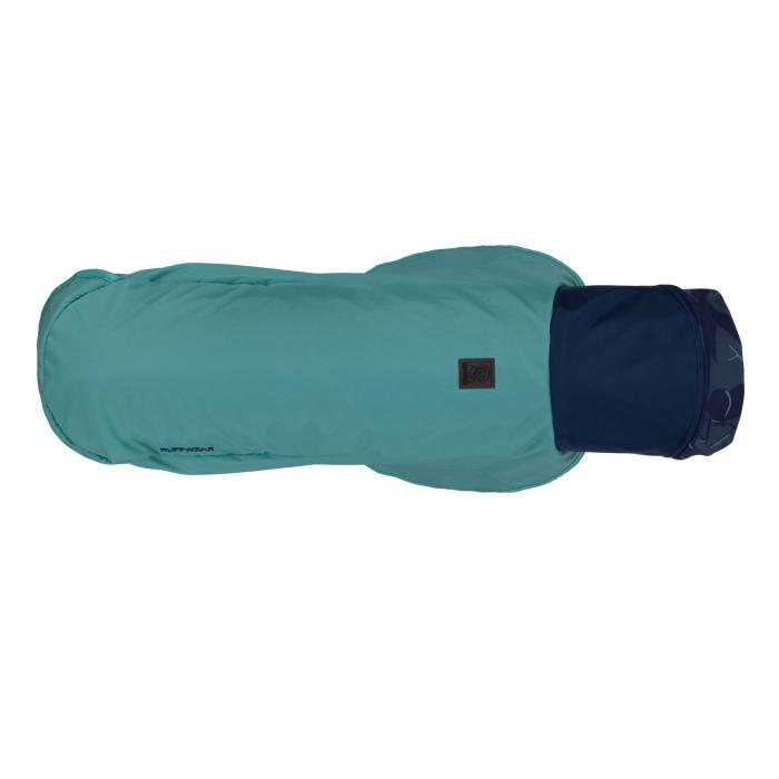 Ruffwear Dirtbag dog drying towel jacket_Aurora Teal_side