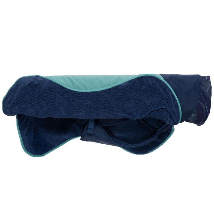 Ruffwear Dirtbag dog drying towel_Aurora Teal_side